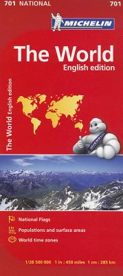 Michelin Map 701 World By Michelin Travel & Lifestyle (COR)
